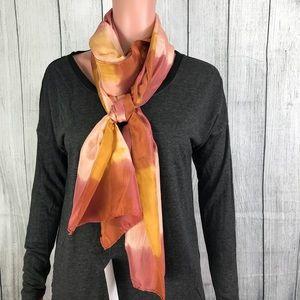 Eileen Fisher 100% Silk Shibori Scarf Brand New